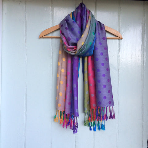 Reversible 'Dotty' Pashmina Scarf