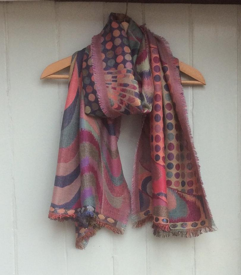 Reversible Contemporary' Pashmina Scarf