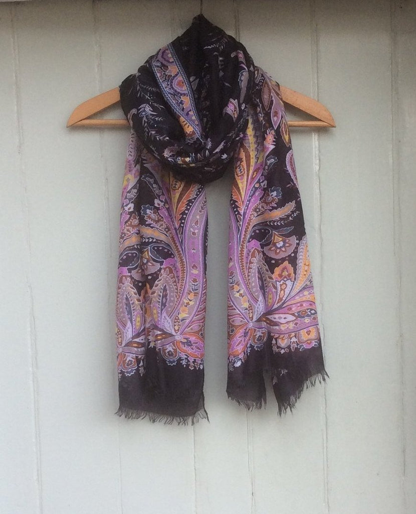 Cashmere Mix Paisley Scarf