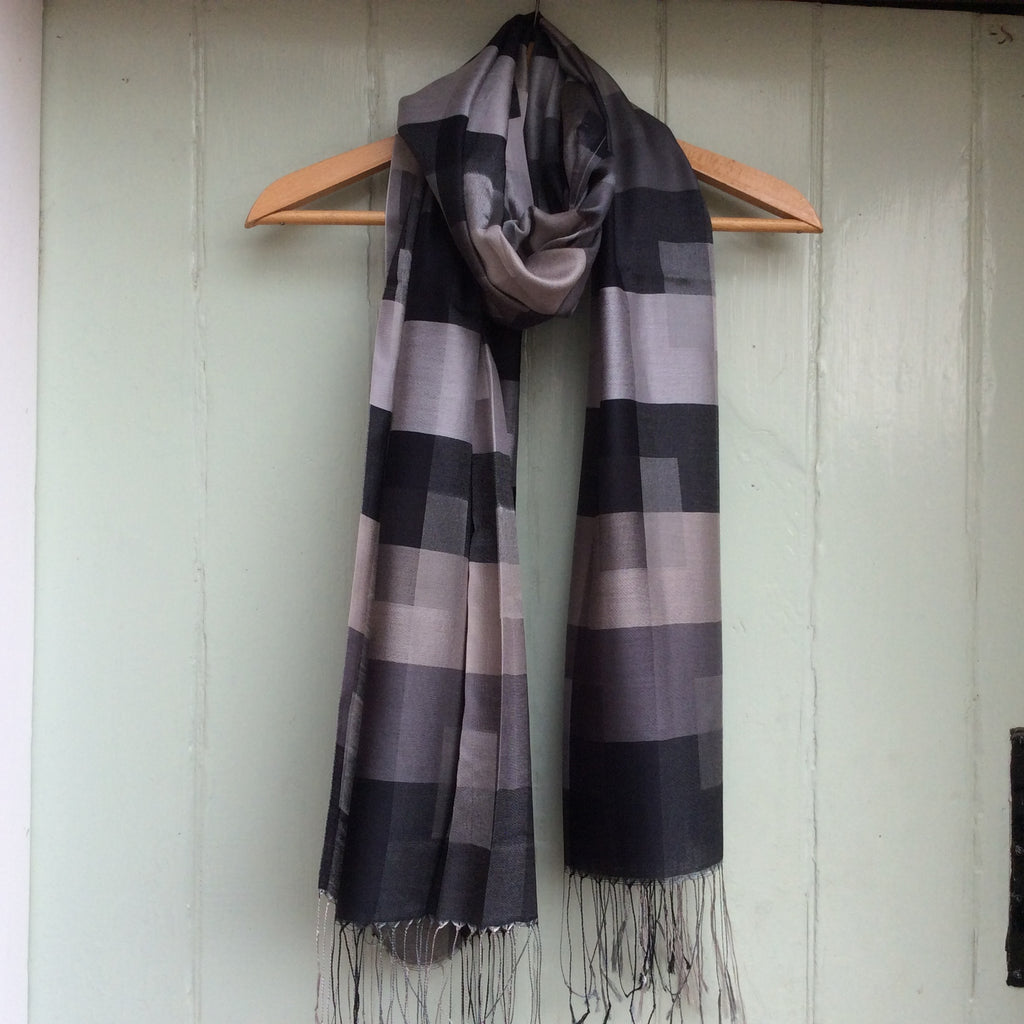 Silk Mix 'Geometric' Scarf