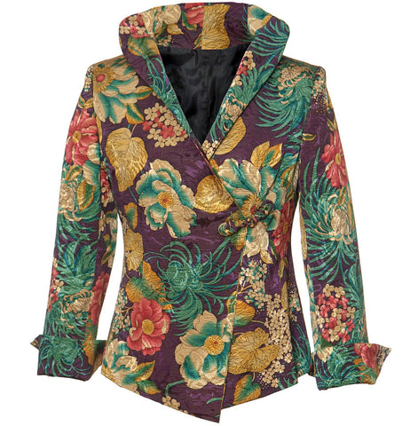 Washable Floral Jacket - Purple