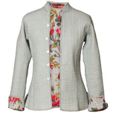 Reversible 'Bird of Paradise' Cotton Jacket - Grey