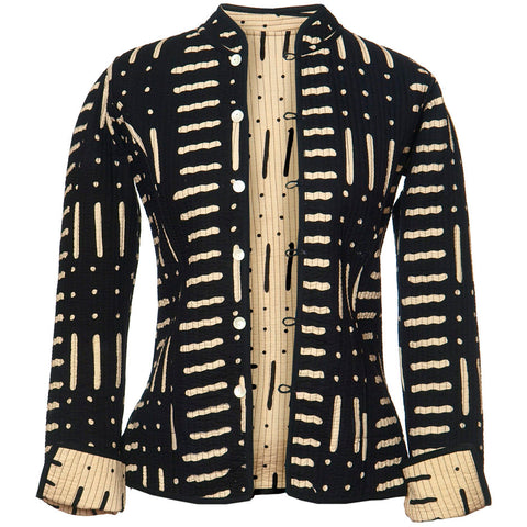 Reversible 'Spots & Stripes' Cotton Jacket