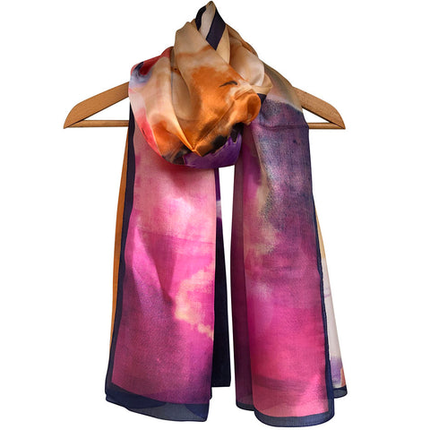 **NEW**'Summer Sunset' Pure Silk Scarf