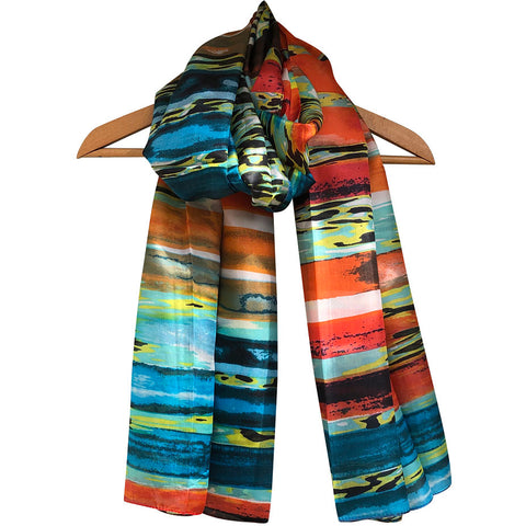 **NEW**'Sundown' Pure Silk Scarf