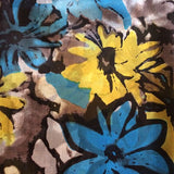 'Sketched Blooms' Pure Silk Scarf