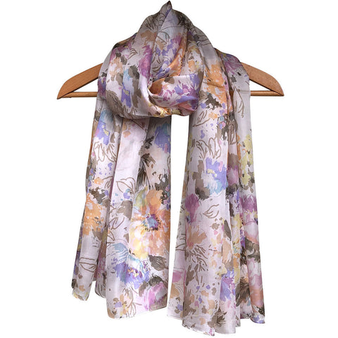 **NEW** 'Cottage Garden' Pure Silk Scarf