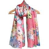 **NEW** 'Watercolour Florals' Pure Silk Scarf