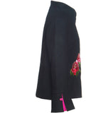 Embroidered Wool Jacket - Black