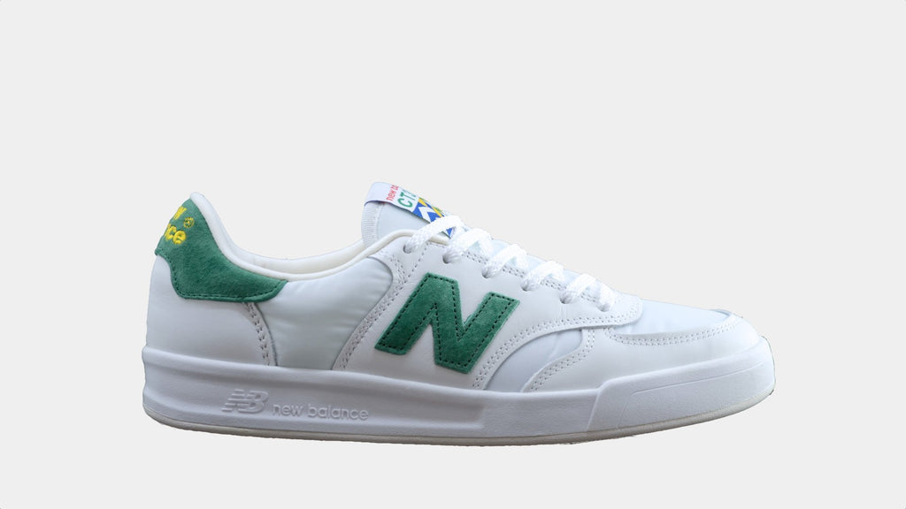 new balance shoes green and white logo circle