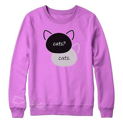 e2560299edb0 New Womens Fault In Our Cats Funny Sweater Tumblr Fashion Blog Jumper S-XXL