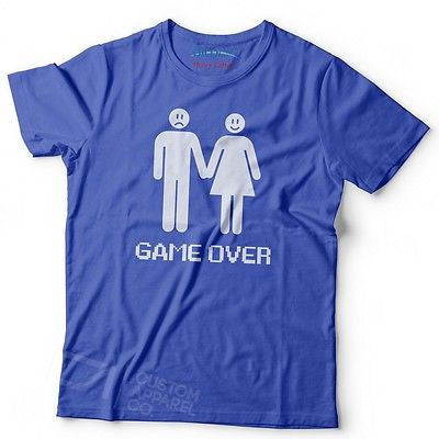 2842e3f2 GAME OVER FUNNY MENS WOMENS LADS STAG DO HEN WEDDING NIGHT T SHIRT NEW S -  2XL
