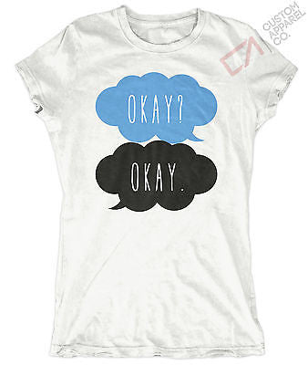8be2196982ac OKAY WOMENS THE FAULT IN OUR STARS T SHIRT TOP TFIOS TUMBLR QUOTE LOVE