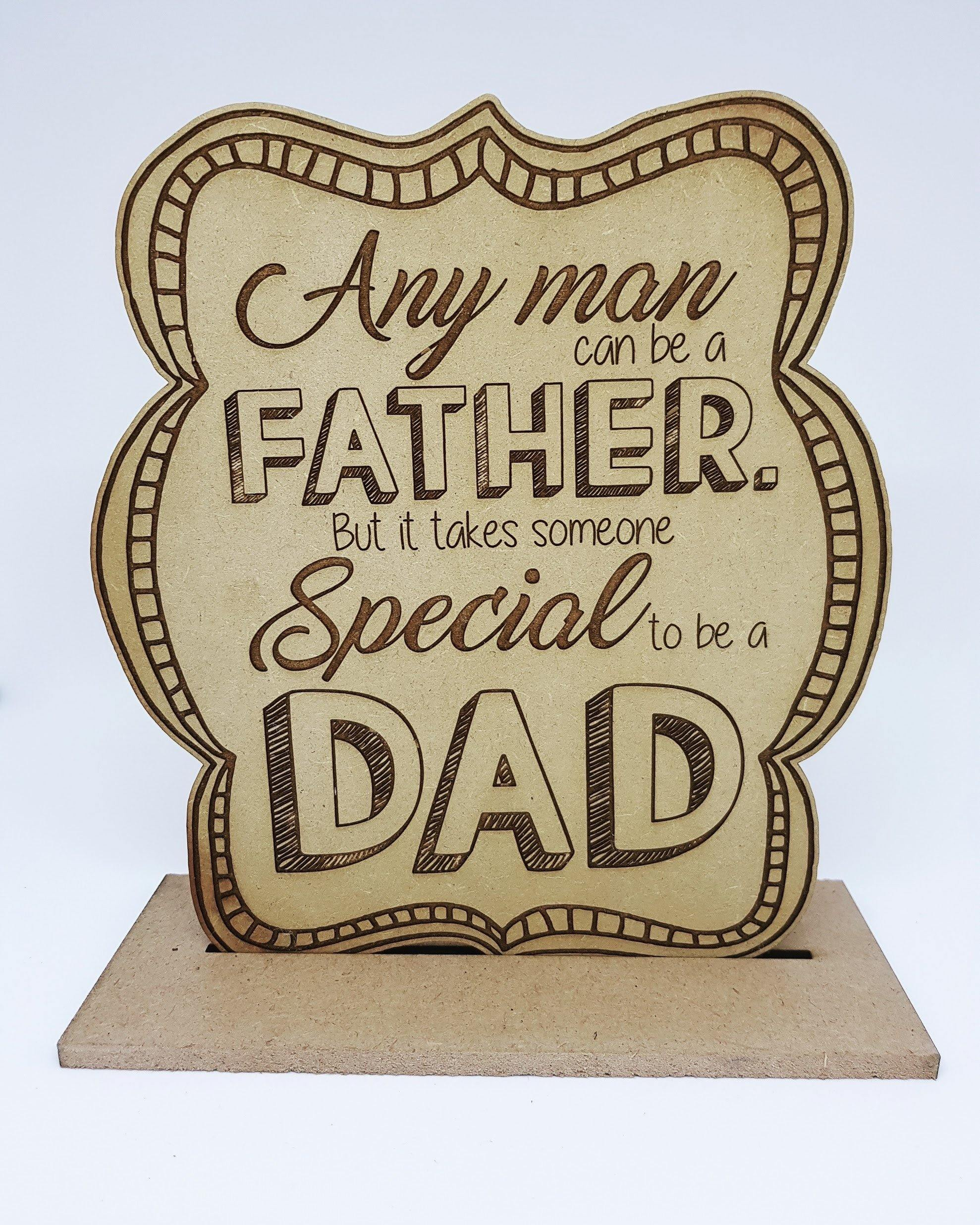 Fathers Day Or Birthday Best Dad Trophy Handmade Laser Wood Gift Perfe