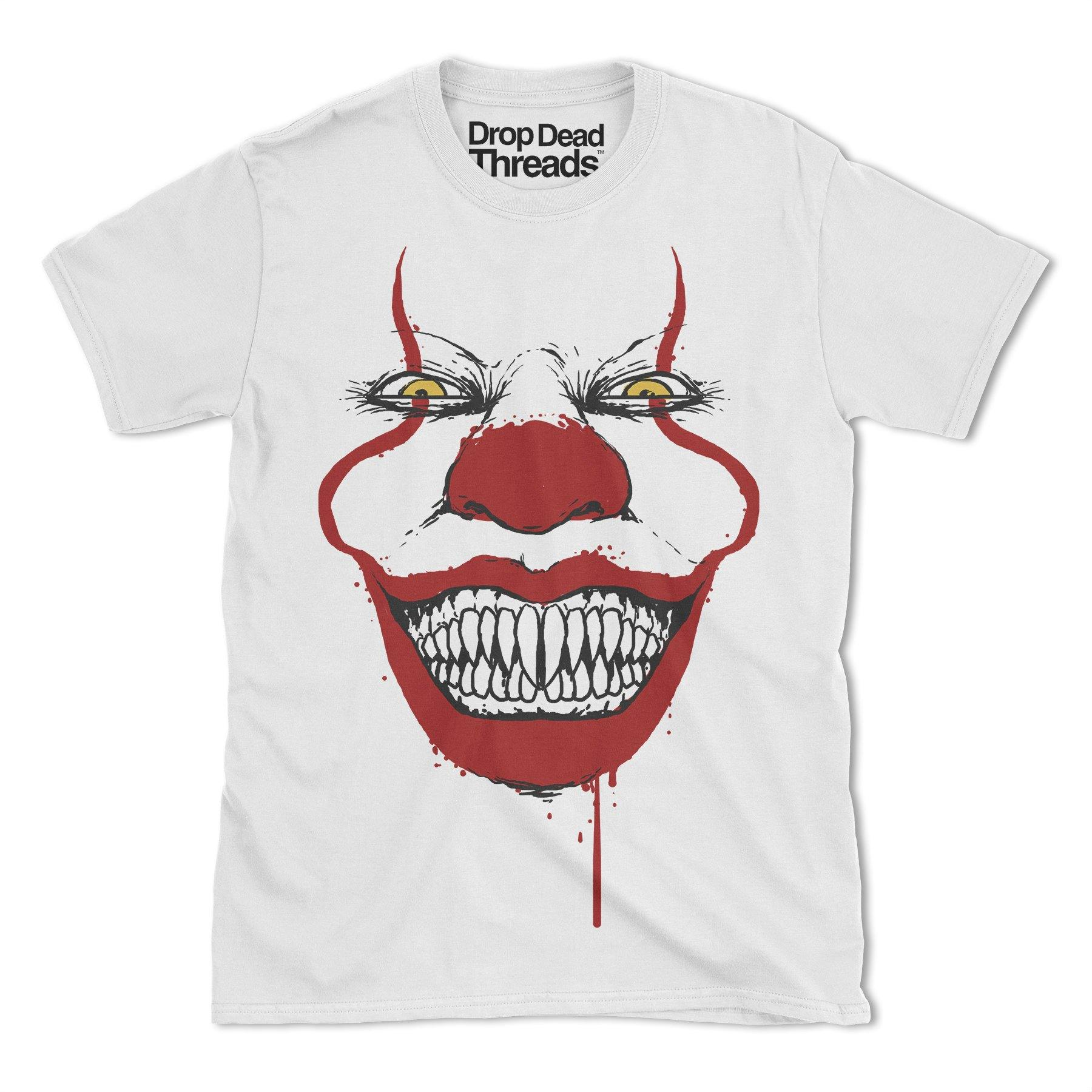 dd05d383 Halloween Scary Clown Mask Scary Mens Costume Horror T Shirt Top New S