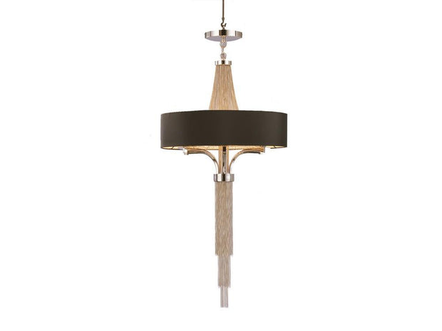Langan Chandelier Small With Black Shade