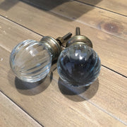 Glass Door Knob in Ball Shape - Allissias Attic  &  Vintage French Style - 2