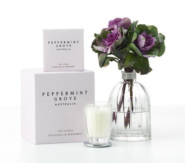 Peppermint Grove - Small Candle - Patchouli & Bergamot - Allissias Attic  &  Vintage French Style - 3