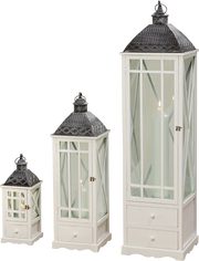 White Lanterns - Set of 3