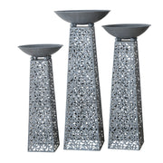 Firebowls on Plinth - Set of 3 - Grey