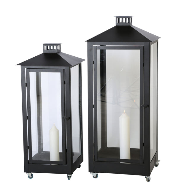 Large Black Lanterns - Set of 2