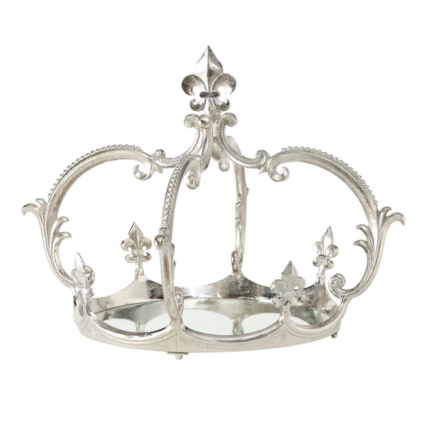 Large Mirrored Crown Tray