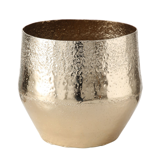 Golden Planters - Set of 3