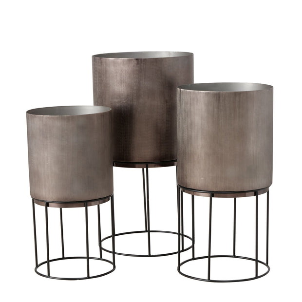 Elegant Metallic Planters - Set of 3