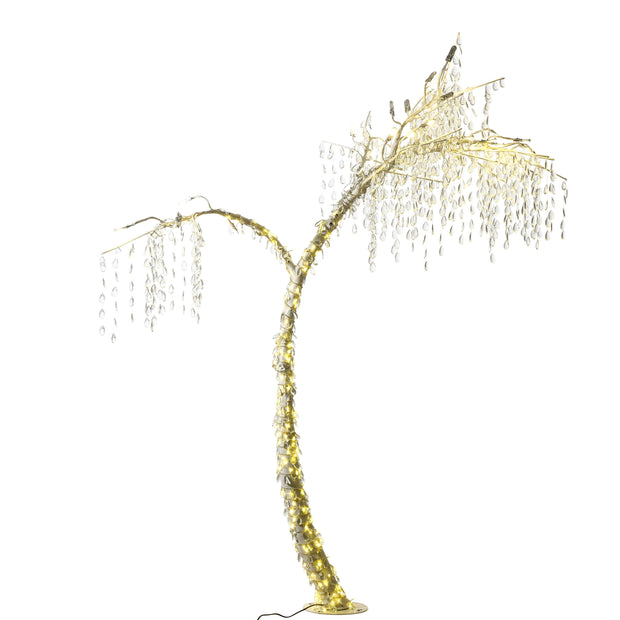 Droplet & LED Outdoor Decorative Tree 2.4M