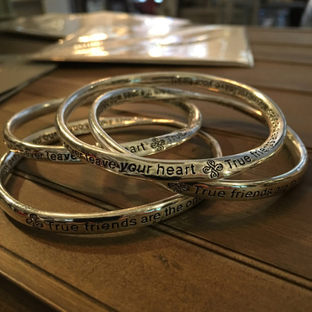 True Friends never Leave your Heart Bangles - Allissias Attic  &  Vintage French Style