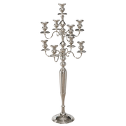 Victoria Candle Holder - Silver Toned