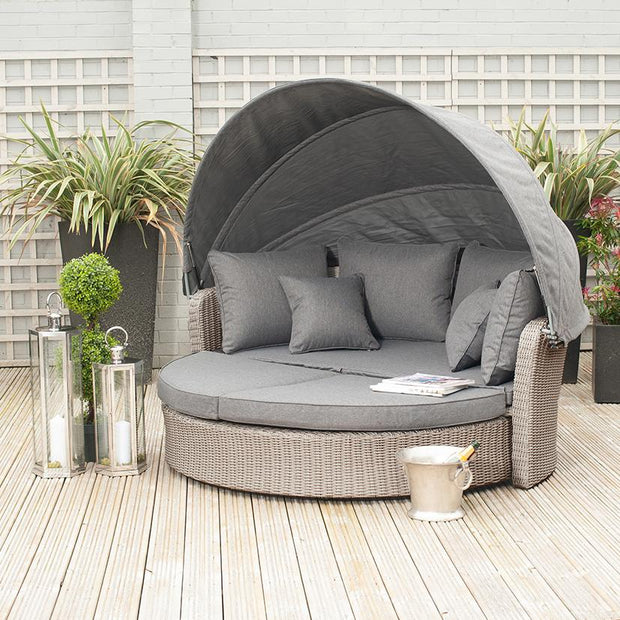 Cayman Round Day Bed - Slate Grey
