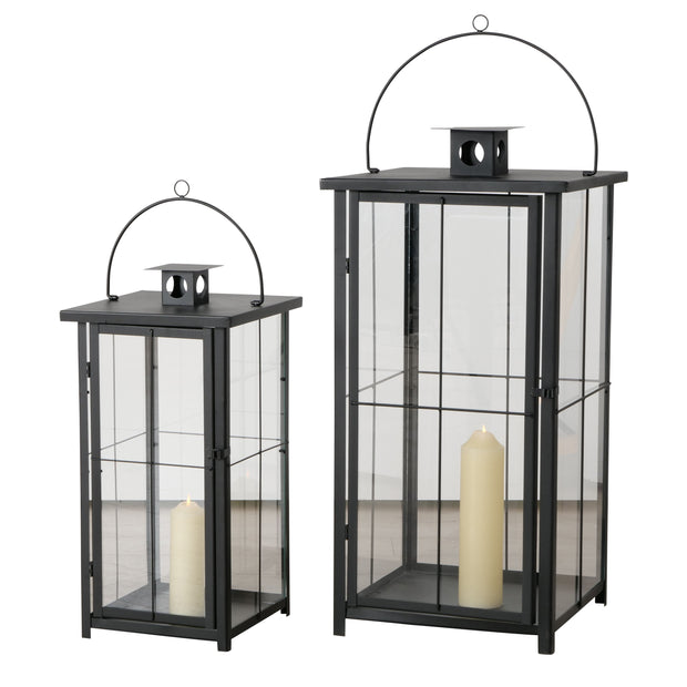 Arizone Lanterns - Black - Set of 2