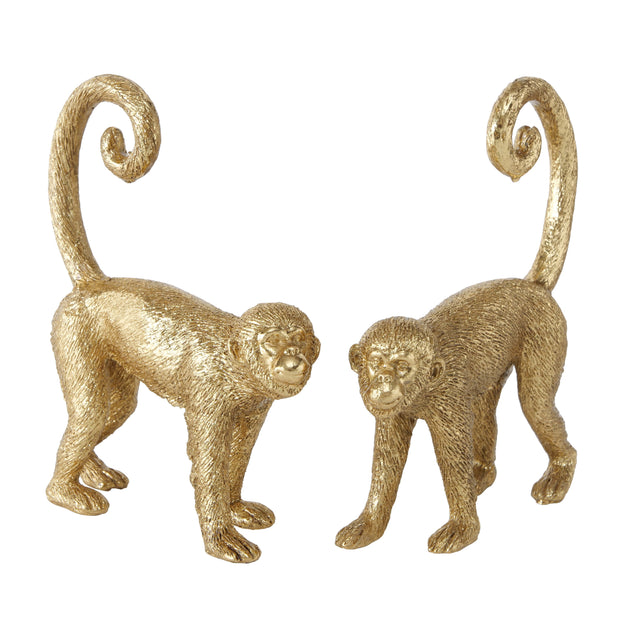 Golden Ring Tail Monkeys - Set of 2