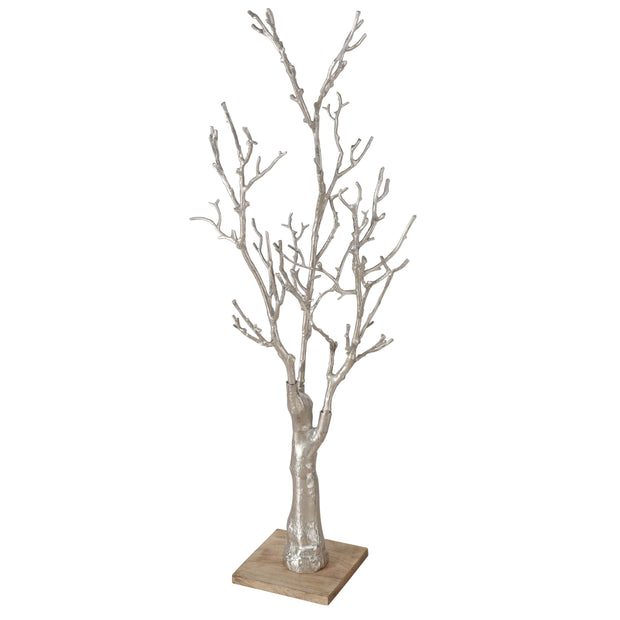 Lampoli Tall Decorative Silver Tree