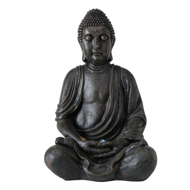 Fountain Buddha In Black