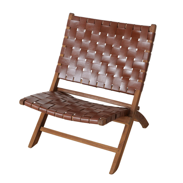 Lattice Leatherette Chair