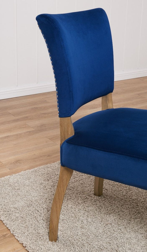 Bourton Chair - Blue Velvet