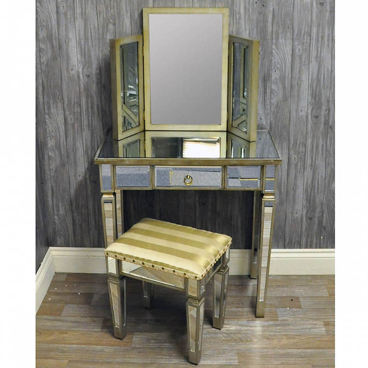 Venetian Glass Dressing Table & Mirror - Allissias Attic  &  Vintage French Style