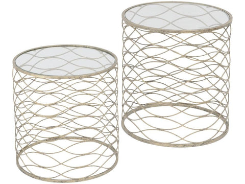 Gatsby Set Of 2 Gold Nesting Side Tables