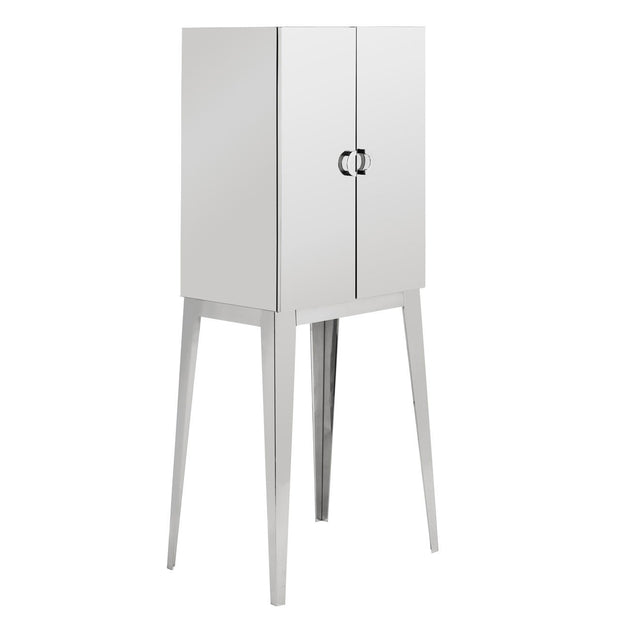 Allure Polished Steel Tall Cabinet