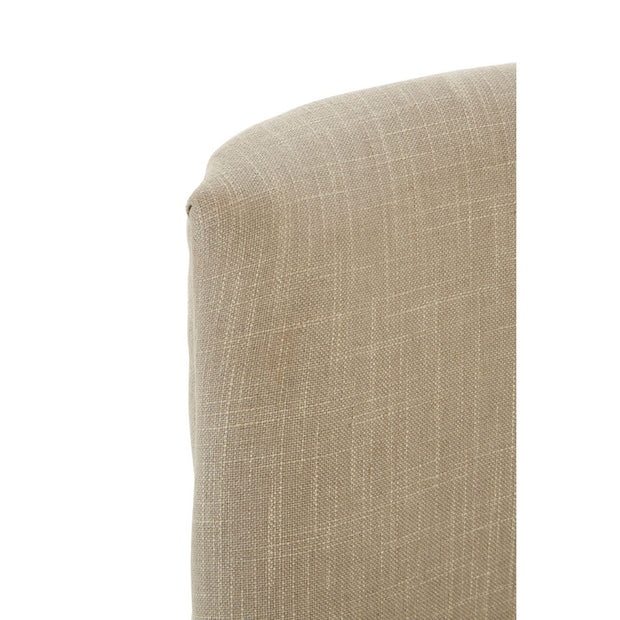 Curl Back Dining Chair - Natural Linen - Set of 2