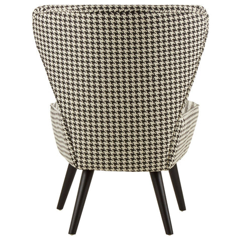 Dogtooth Upholstered Wingback Chair