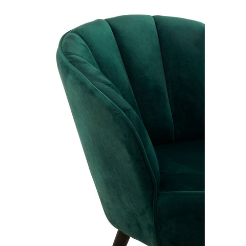 Regent Tufted Velvet Tub Chair  - Green
