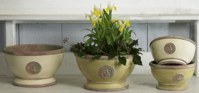 Kew Gardens Footed Bowls - Aubergine - Allissias Attic  &  Vintage French Style - 2