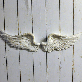 Antique Wash White Angel Wings 800mm  or  430mm