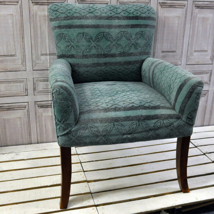 Stone Washed Pattern Occasional Chair - Allissias Attic  &  Vintage French Style
