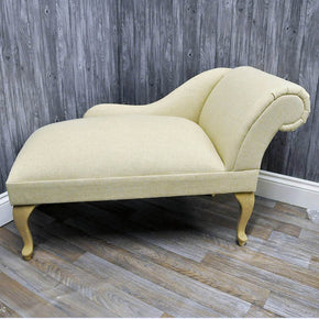 Mini Chaise Longue - Natural Linen - Allissias Attic  &  Vintage French Style