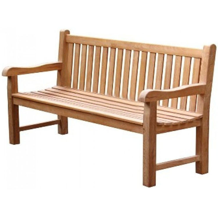 Traditional Teak Garden Bench - Allissias Attic  &  Vintage French Style