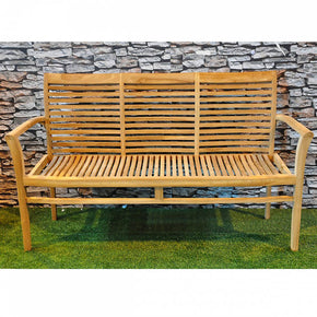 Stacking Low Arm 3 Seat Outdoor Sofa - Allissias Attic  &  Vintage French Style